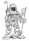 Målarbild astronaut