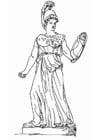 Målarbild Athena