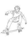 Målarbild att Ã¥ka skateboard