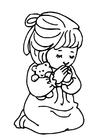 Målarbild att be