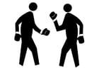 Målarbild att boxas