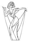 Målarbild att dansa