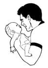 Målarbild baby
