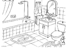 Målarbild badrum