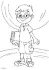 Målarbild bära glasögon