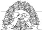 Målarbild bäverbo