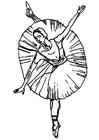 Målarbild ballerina