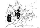 Målarbild Barbapappas familj