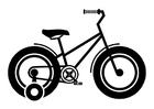 Målarbild barncykel med stödhjul