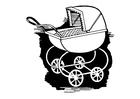 Målarbild barnvagn