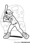 Målarbild baseball