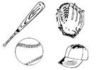 Målarbild baseboll