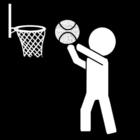 Målarbild basket