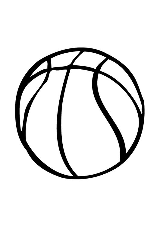 Målarbild basketboll