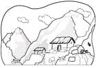 Målarbild berg