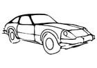 Målarbild bil
