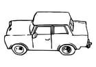 Målarbild bil - trabant