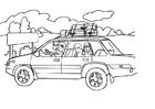Målarbild bilsemester