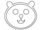 Målarbild björnhuvud