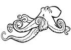 Målarbild bläckfisk