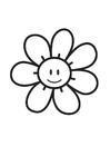 Målarbild blomma