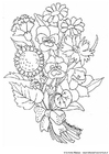 Målarbild blommor