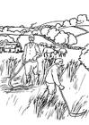 Målarbild bönder