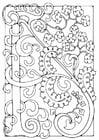 Målarbild bokstav - A