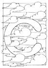 Målarbild bokstav - c