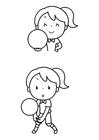 Målarbild bollspel
