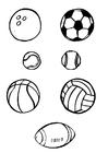 Målarbild bollsporter