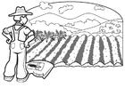 Målarbild bonde 1