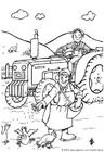 Målarbild bonde