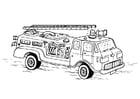 Målarbild brandbil