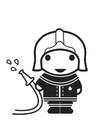Målarbild brandman