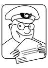 Målarbild brevbärare