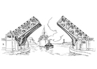 Målarbild bro - klaffbro