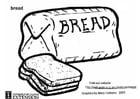 Målarbild Bröd