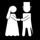 Målarbild bröllop