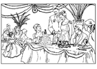 Målarbild bröllopsfest