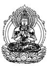 Målarbild Buddha
