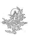Målarbild buddistisk bild