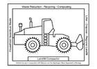 Målarbild Bulldozer eller bandschaktare