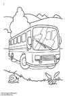 Målarbild buss
