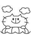 Målarbild cat
