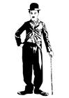 Målarbild Charlie Chaplin