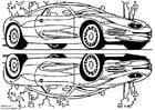 Målarbild Chrysler visningsbil