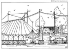 Målarbild cirkus