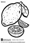 Målarbild Citron