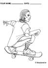 Målarbild Cool skatare